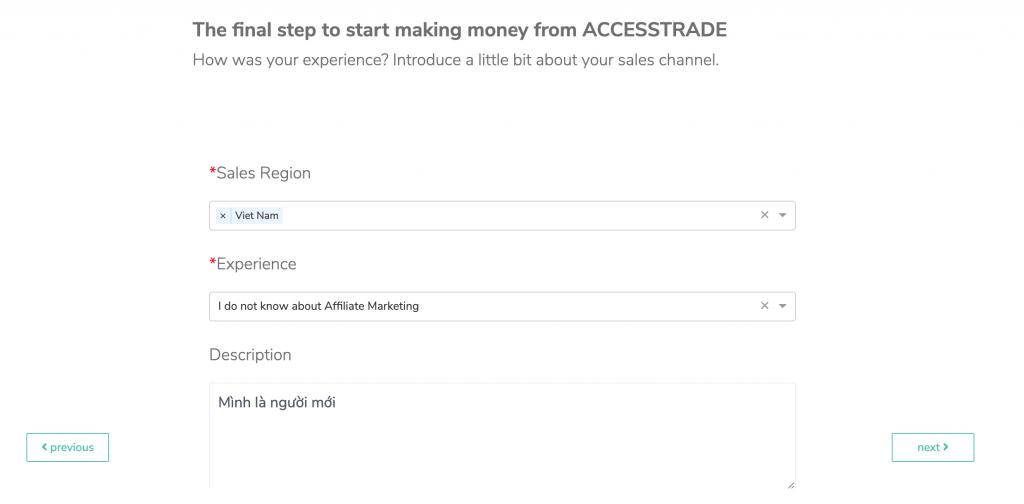 Hướng dẫn kiếm tiền với Accesstrade 20