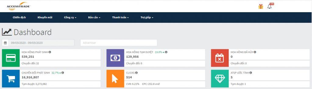 Viết blog kiếm tiền online với Accesstrade